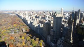 Vista aerea del Central Park, Manhattan stock footage