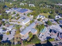 Vista aerea del centro città di Ashland, mA, U.S.A. immagini stock