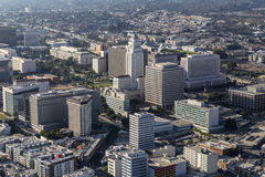 Vista aerea del centro cittadino di Los Angeles Immagini Stock Libere da Diritti