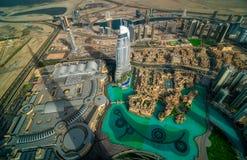Vista aerea del centro del Dubai, Dubai, Emirati Arabi Uniti Immagini Stock