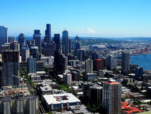 Vista aerea del centro di Seattle Immagine Stock