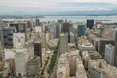 Vista aerea del centro urbano con Teatro municipale Fotografie Stock Libere da Diritti