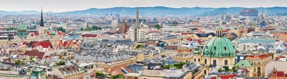 Vista aerea del centro urbano di Vienna Fotografia Stock