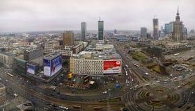 Vista aerea del centro urbano a Varsavia, Polonia Immagine Stock Libera da Diritti