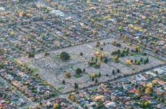 Vista aerea del cimitero Fotografia Stock Libera da Diritti