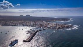 Vista aerea del corralejo Fuerteventura Immagine Stock