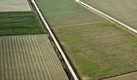 vista aerea del cropland Immagine Stock Libera da Diritti