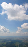 Vista aerea del cumulo Fotografie Stock