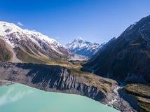 Vista aerea del cuoco Landscape, Nuova Zelanda di Mt Immagine Stock