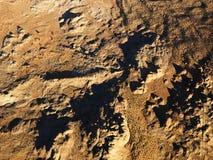 Vista aerea del deserto Fotografia Stock