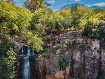 Vista aerea del ` di Salto Suizo del ` il più alta cascata del Paraguay Fotografia Stock