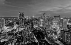 Vista aerea del distretto di Sathorn, città di Bangkok thailand Distretto e centri di affari finanziari in città urbana astuta in immagini stock