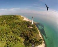 Vista aerea del faro di Florida Fotografia Stock