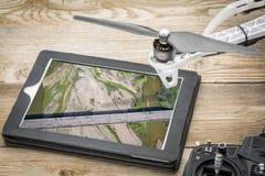 Vista aerea del fiume south platte immagine stock
