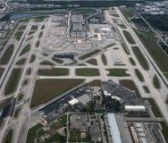 Vista aerea del Fort Lauderdale, aeroporto internazionale di Hollywood fotografia stock