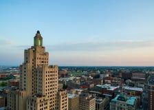 Vista aerea del fuco di provvidenza Rhode Island Fotografia Stock