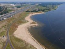 Vista aerea del fuco di Zilverzand Almere Immagini Stock Libere da Diritti