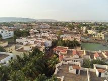Vista aerea del fuco del niarela Quizambougou Niger Bamako Mali immagini stock libere da diritti