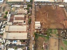 Vista aerea del fuco del niarela Quizambougou Niger Bamako Mali fotografie stock