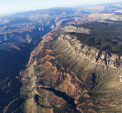 Vista aerea del Grand Canyon di Colorado, Arizona, S.U.A. Fotografie Stock