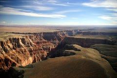 Vista aerea del grande canyon Fotografie Stock Libere da Diritti