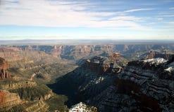 Vista aerea del grande canyon Fotografie Stock