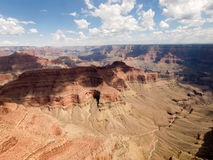 Vista aerea del grande canyon Immagine Stock