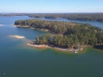Vista aerea del lago Lanier fotografia stock