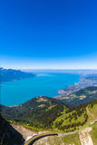 Vista aerea del lago Lemano dal Rochers-de-Naye Fotografie Stock