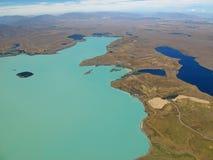 Vista aerea del lago Tekapo, Nuova Zelanda Fotografia Stock Libera da Diritti