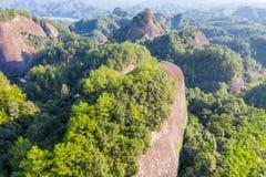 Vista aerea del landform di danxia fotografia stock libera da diritti