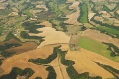 Vista aerea del lato del paese vicino a Roma Immagine Stock