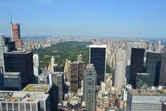 Vista aerea del lato est superiore di Manhattan a New York, NY Immagini Stock Libere da Diritti