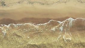 Vista aerea del litorale alla spiaggia video d archivio