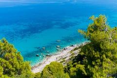 Vista aerea del Mar Ionio fotografia stock