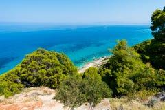 Vista aerea del Mar Ionio fotografia stock libera da diritti