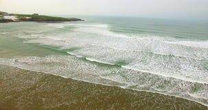 Vista aerea del mare 4k video d archivio