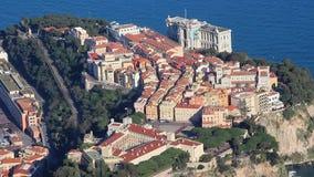 Vista aerea del Monaco-Ville - lasso di tempo stock footage
