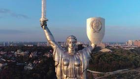 Vista aerea del monumento della patria video d archivio
