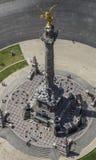 Vista aerea del monumento di angelo di indipendenza a Messico City immagini stock libere da diritti