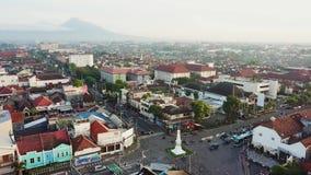 Vista aerea del monumento di Jogja stock footage