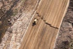 Vista aerea del motore funzionante della terra Immagine Stock Libera da Diritti