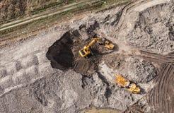 Vista aerea del motore funzionante della terra Fotografia Stock