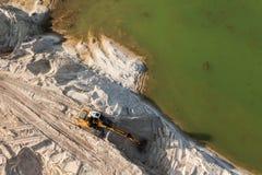 Vista aerea del motore funzionante della terra Immagini Stock Libere da Diritti