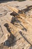 Vista aerea del motore funzionante della terra Fotografie Stock Libere da Diritti