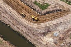 Vista aerea del motore funzionante della terra Fotografia Stock Libera da Diritti