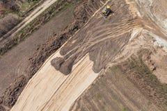 Vista aerea del motore funzionante della terra Immagini Stock