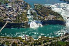 Vista aerea del Niagara Falls fotografia stock
