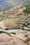 Vista aerea del paesaggio del Bhutan Fotografie Stock Libere da Diritti