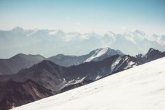 Vista aerea del paesaggio delle montagne Fotografie Stock Libere da Diritti